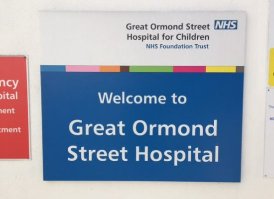 Great Ormond Street Hospital – Friday April 29th 2016